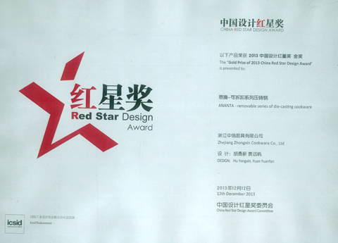 Red star award for citic kitchen utensils